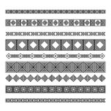 Set of nine ornament decorative elements Stock Images