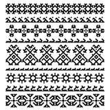 Set of nine ornament decorative elements Royalty Free Stock Photography