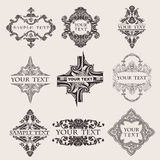 Set Of Nine Ornate Banner  Quad Royalty Free Stock Photos