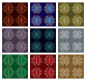 Set of nine patterns Royalty Free Stock Photo