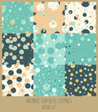 Set of nine polka dot seamless backgrounds Royalty Free Stock Image