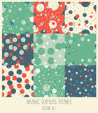Set of nine polka dot seamless backgrounds Royalty Free Stock Photo