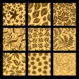 Set of nine Seamless autumn patterns. Thanksg stock illustration