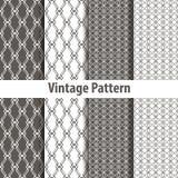 Set of nine seamless pattern in retro style Stock Photo