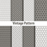 Set of nine seamless pattern in retro style Stock Photography