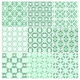 Set of nine seamless pattern Stock Image
