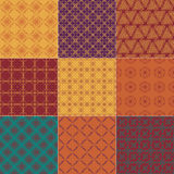 Set of nine seamless patterns Royalty Free Stock Image