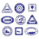 Set of travel and tourism stamps and badges Stock Image