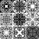 Set of nine textures Royalty Free Stock Photos