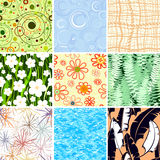 Set of nine textures Royalty Free Stock Image