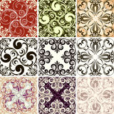Set of nine textures Royalty Free Stock Photos