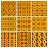 Set of nine tribal patterns Stock Image