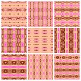 Set of nine tribal patterns Royalty Free Stock Image