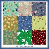 Set of nine vector patterns Royalty Free Stock Photo