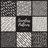 Set of Nine Vector Seamless Lines Patterns Collection Stock Photography