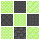 Set of nine vector seamless patterns Stock Photography