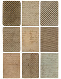 Set of nine vintage pattern texture backgrounds Stock Image