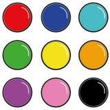 Web button. Set of nine web button Royalty Free Stock Photo
