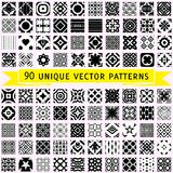 Set of ninety vector patterns Royalty Free Stock Image