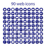 Set of ninety web icons Royalty Free Stock Photo