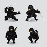Set of ninja Stock Image