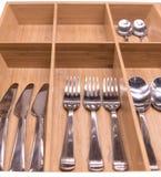 Set noży rozwidleń łyżki Obraz Stock