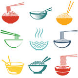Set of noodles Stock Photography
