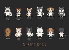 Set of nordic dogs Royalty Free Stock Images