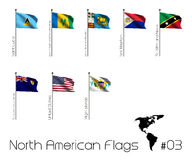 Set of North American flags Stock Image