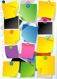 Set of note paper Royalty Free Stock Photos