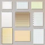 Set of note paper lists vector illustration