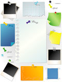 Set of note papers Royalty Free Stock Photography