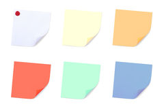 Set of Note Papers. Stock Image