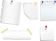 Set of note papers Royalty Free Stock Images