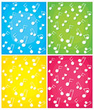 Set of note vector backgrounds  Royalty Free Stock Image