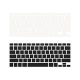 Set of notebook keyboards with empty buttons in different colours isolated on white Royalty Free Stock Photo