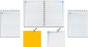 Set of notebooks Stock Images