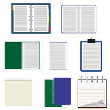 Set of notebooks. Stock Image