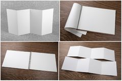 Set of notebooks and booklets stock images
