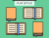 Set of notebooks in flat style with shadows Royalty Free Stock Photos