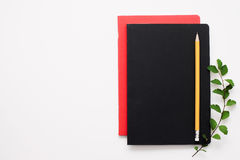 Set of notebooks on white background, free space Stock Photos