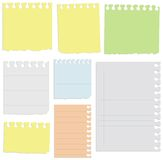 Set of notepad sheets. Vector art in EPS format. All sheets organized in layers for usability Royalty Free Stock Photos