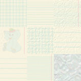 Set of notepaper generated textures Stock Photo
