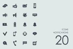 Set of notifications icons Royalty Free Stock Photography
