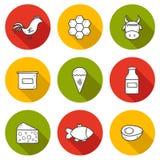 Set nowożytna ręka rysować cienia konturu ikony z Fotografia Royalty Free