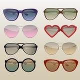 Set nowożytni okulary przeciwsłoneczni Fotografia Royalty Free