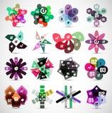 Set nowożytni opcja sztandaru szablony Zdjęcie Royalty Free