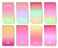 Set nowożytny interfejs użytkownika, ux, ui parawanowe tapety dla mądrze telefonu Mobilny zastosowanie, mobilna tapeta, wektorowa ilustracji