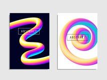 Set nowożytny modny stylowy abstrakci tło klingeryt Zdjęcia Stock