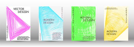 Set nowożytne pokrywy ilustracja wektor